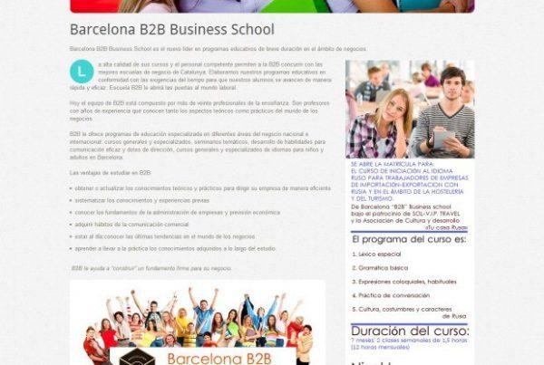 Сайт бизнес-школы Barcelona B2B